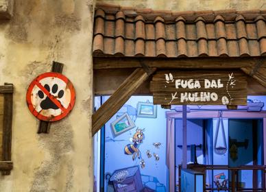 Detaglio di Lunafarm, il parco a tema contadino a Fico Bologna