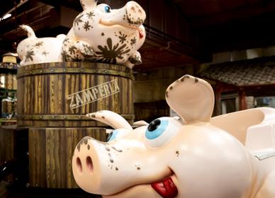 Detaglio di Lunafarm, il parco divertimenti per Bambini