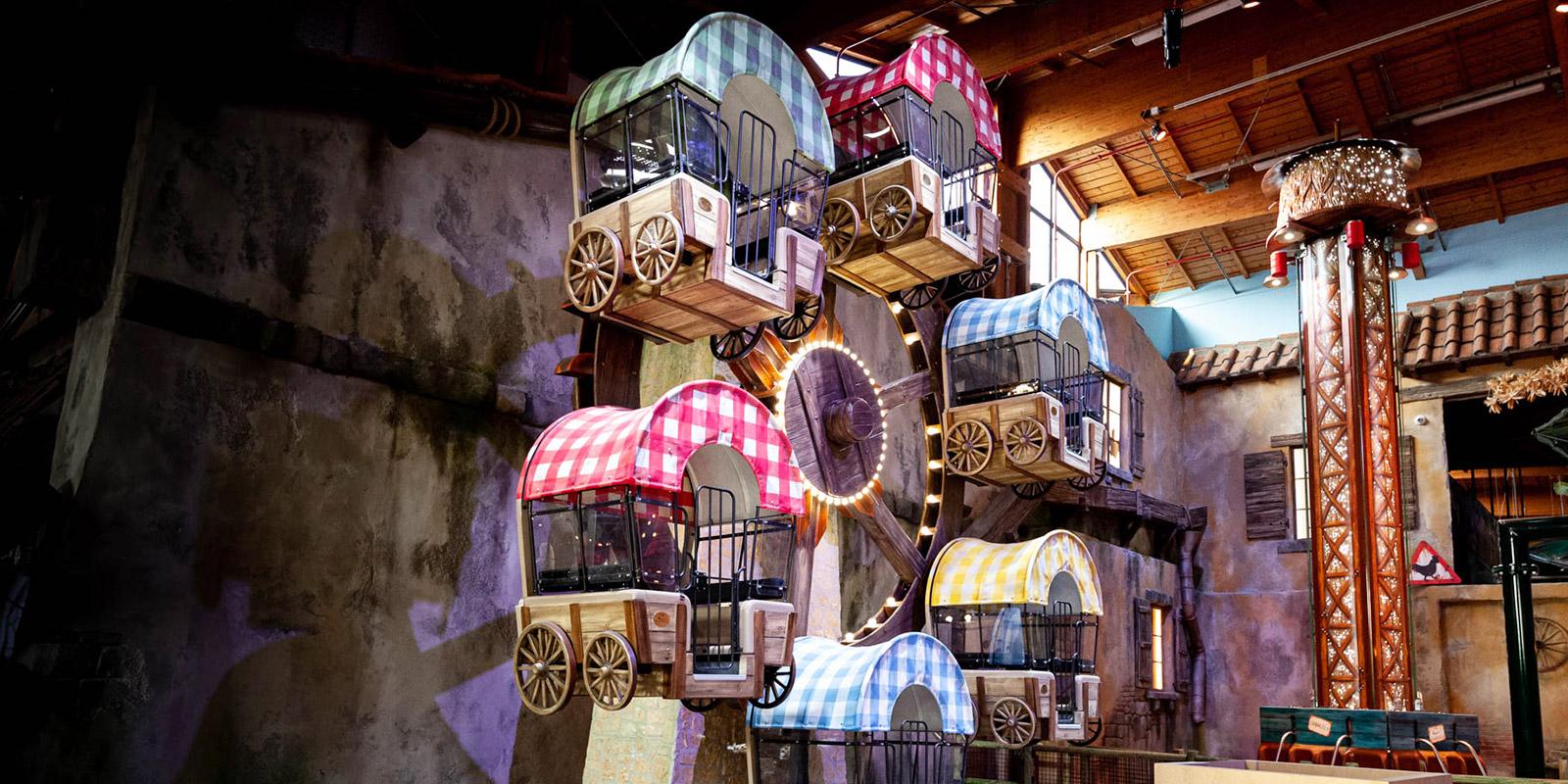 giostre del parco divertimenti per bambini Lunafarm a Fico Bologna